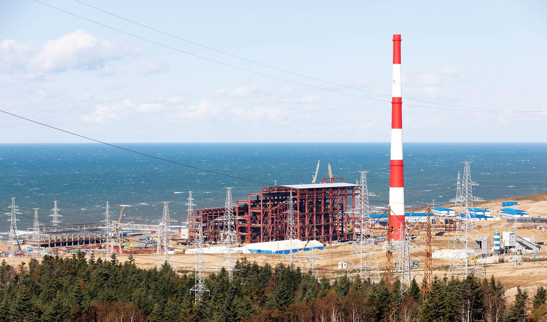 Sakhalinskaya TPP-2 main building Frame was built